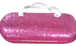 Forever 21 shimmery pink and silver Clutch