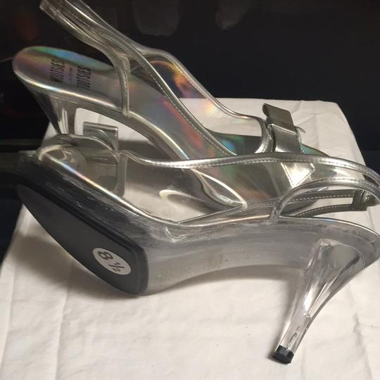 Mootsies Tootsies Clear With Silver Trim Pumps
