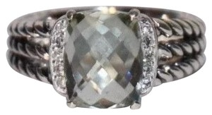 David Yurman DAVID YURMAN PETITE WHEATON RING WITH Prasiolite DIAMONDS SIZE 61/2