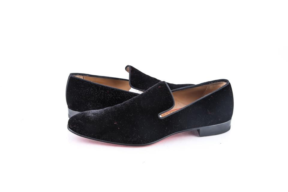 a8758a7cb4bf Christian Louboutin   Black Dandelion Flat Sparkly Velvet Gg Shoes Image 0  ...