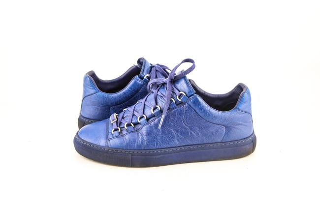 Item - * Blue Electrique Leather Sneaker Rubber Sole Arena Opaque Shoes
