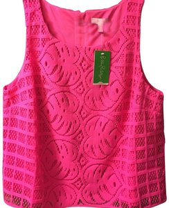 Lilly Pulitzer Top Pink Lace