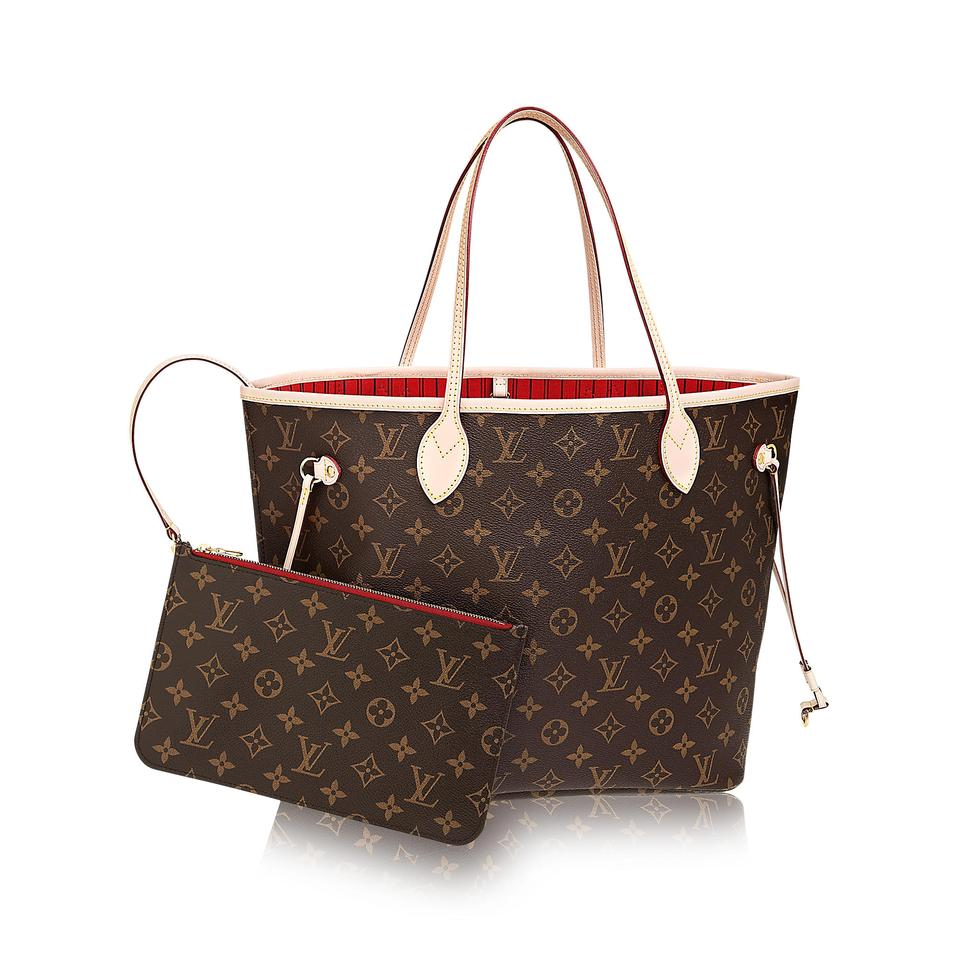 louis vuitton neverfull new 2017 made in france monogram canvas leather tote tradesy. Black Bedroom Furniture Sets. Home Design Ideas