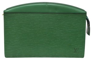 Louis Vuitton Borneo Green Clutch