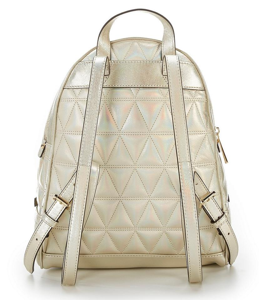 48f3ceb8eb77 Michael Kors Rhea Quilted Leather Medium Style  30h7mezb6k Backpack Image  5. 123456