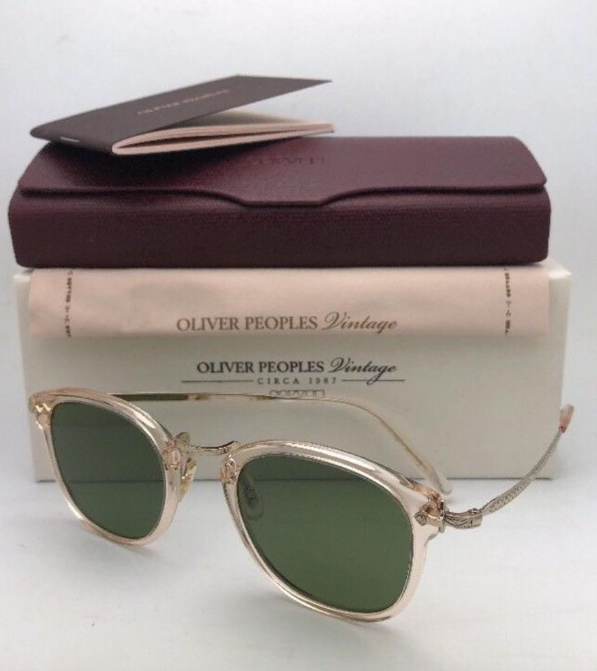 44682c5145d5 Oliver Peoples New Vintage Op-506 Sun Ov 5350-s 109452 Buff W  Green ...