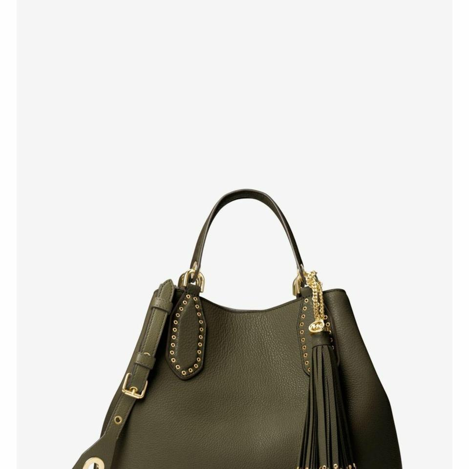 329c10268669 Michael Kors Brooklyn Large Olive Leather Tote - Tradesy