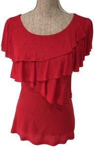 Fever Tops Blouses Size Small Blouses Size Small Tees T Shirt Red