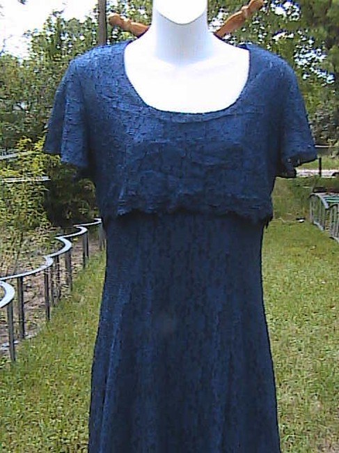 Blue Maxi Dress by Jady California Lace Image 2