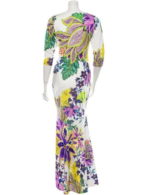 Floral Pattern Maxi Dress by Roberto Cavalli Image 1