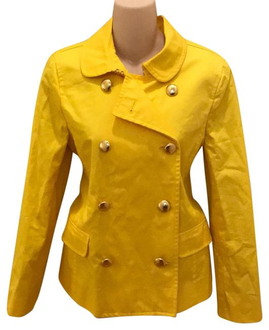 Item - Yellow Fitted Trench. Coat Size 6 (S)