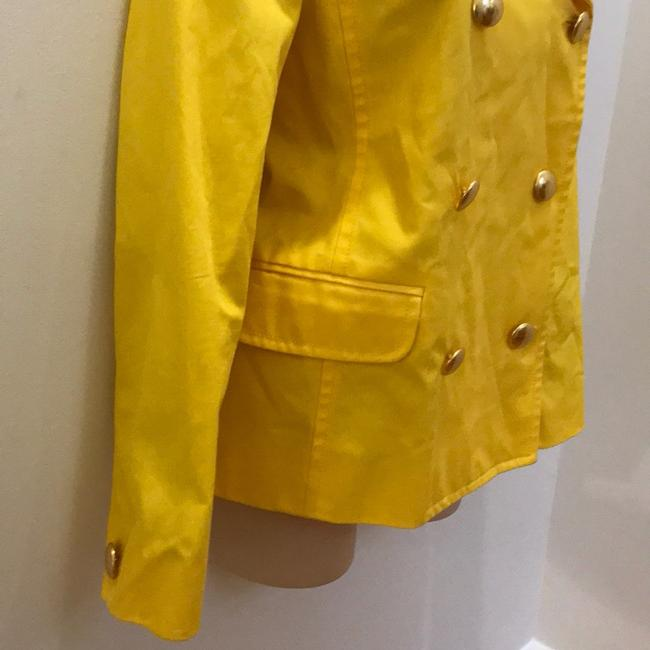 J.Crew Yellow Fitted Trench. Coat Size 6 (S) J.Crew Yellow Fitted Trench. Coat Size 6 (S) Image 3