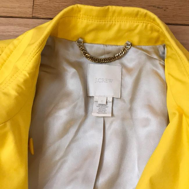 J.Crew Yellow Fitted Trench. Coat Size 6 (S) J.Crew Yellow Fitted Trench. Coat Size 6 (S) Image 4