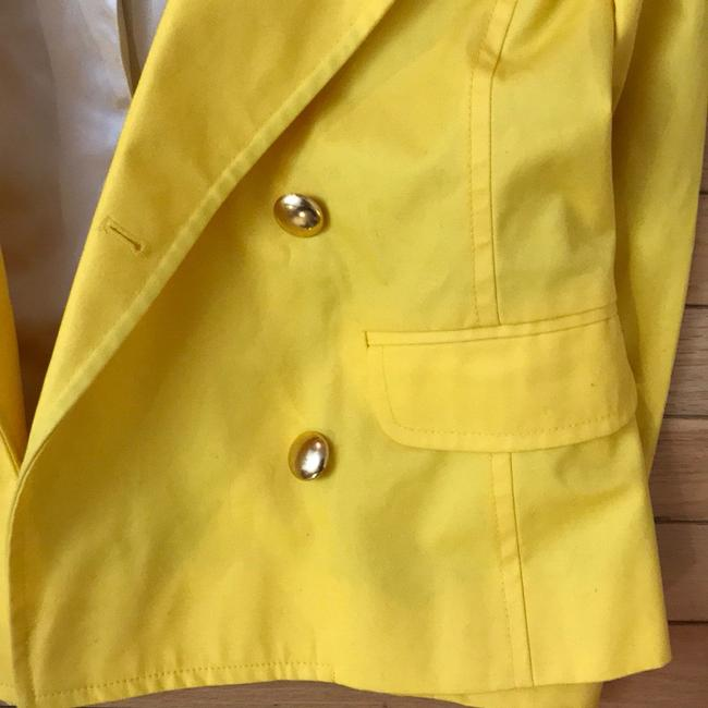 J.Crew Yellow Fitted Trench. Coat Size 6 (S) J.Crew Yellow Fitted Trench. Coat Size 6 (S) Image 5