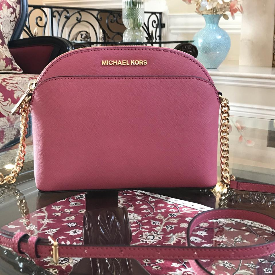 3cc5528c28aa ... Wallets Clearance Michael Kors Emmy Tulip Saffiano Leather Cross Body  Bag - Tr ...