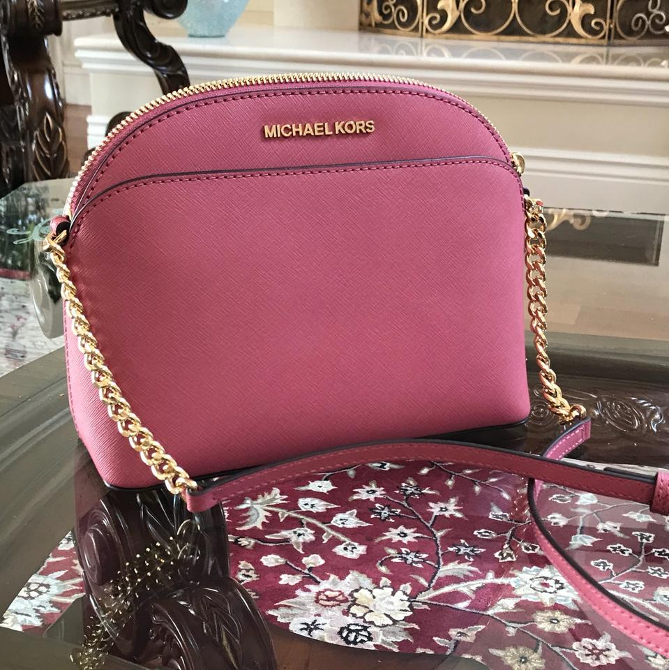3dee88843a68 Michael Kors Leather Spring Gift Next Day Shipping Cross Body Bag Image 9.  12345678910