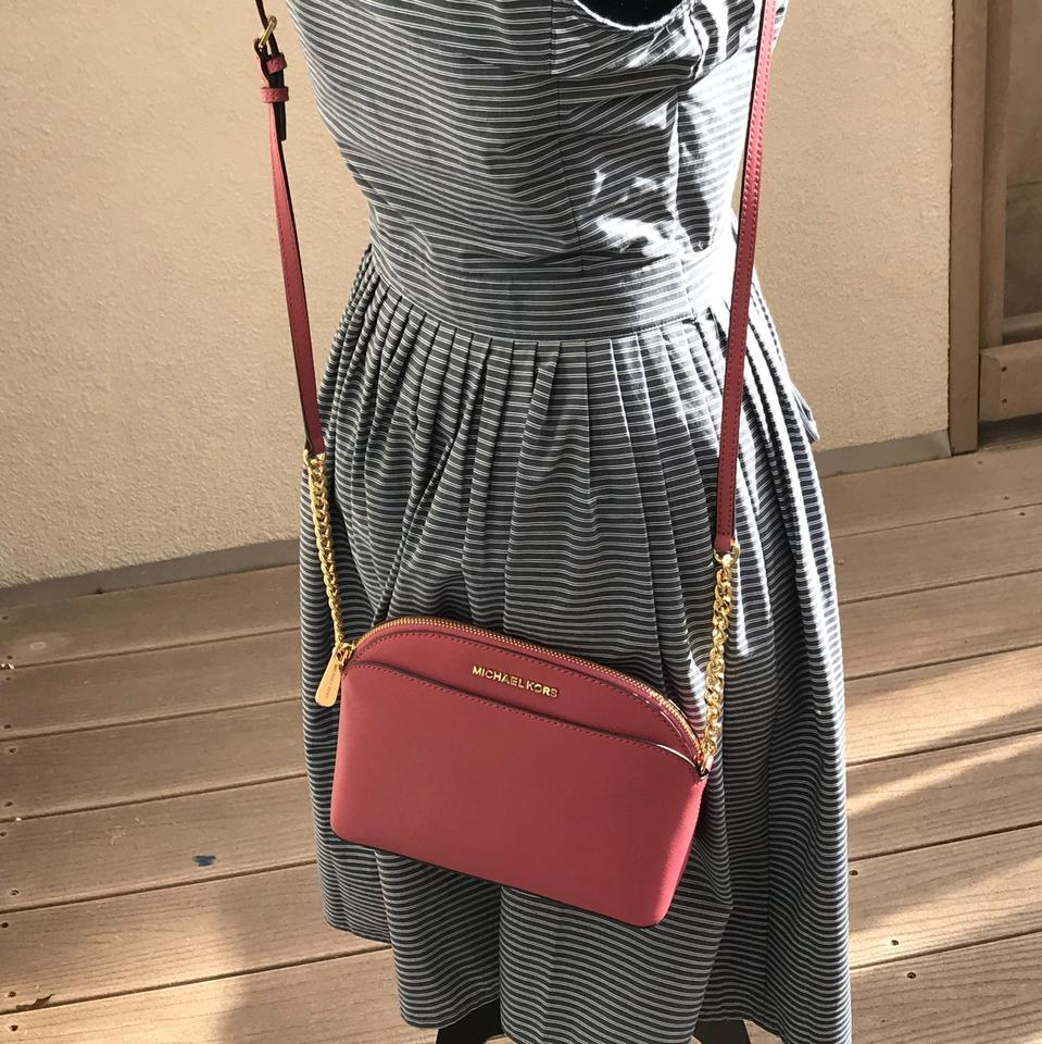 4ad91463d98e1 Michael Kors Leather Spring Gift Next Day Shipping Cross Body Bag Image 9.  12345678910