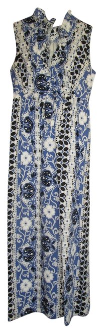 multicolored, shades of blue, black and white Maxi Dress by Other