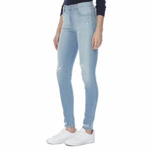 J Brand Ripped Wash Skinny Jeans-Light Wash