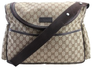Gucci Daddy Mommy Toddler Brown Diaper Bag