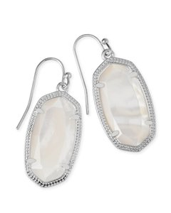 Kendra Scott NEW Kendra Scott Dani Silver White Mother of Pearl Drop Earrings