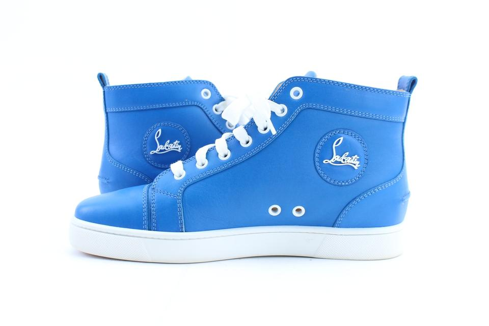 premium selection f7509 437f3 Christian Louboutin Blue Louis Flat High Top Sneakers Size EU 40 (Approx.  US 10) Regular (M, B) 63% off retail