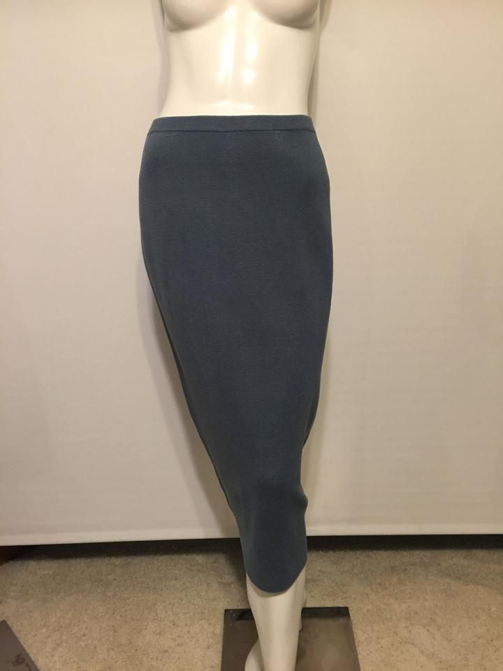 955af81ead Eileen Fisher Steel Blue Silk/Organic Washable Pencil S New Skirt Size 6  (S, 28) - Tradesy