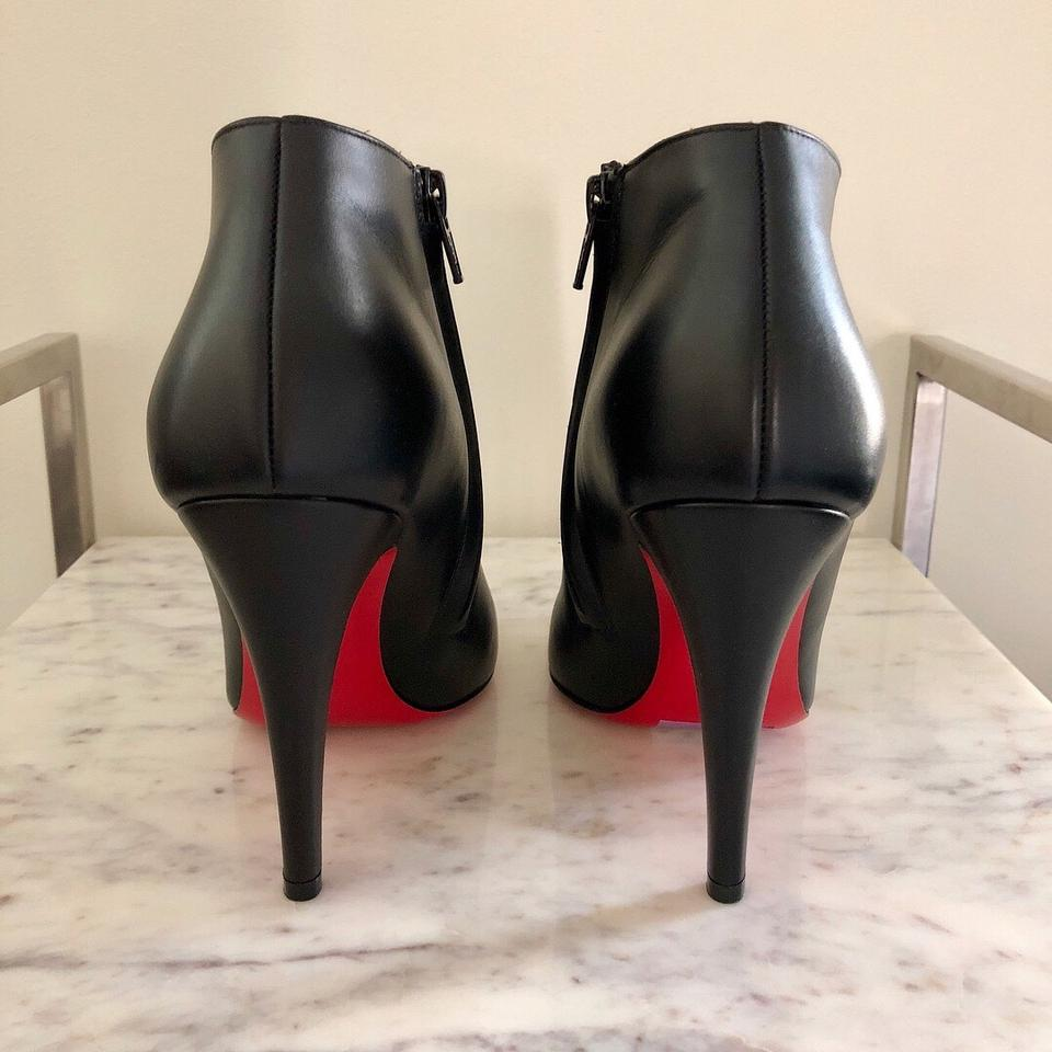 check out 4a377 e80a8 Christian Louboutin Black Belle Round Toe Ankle Booties/Boots Boots/Booties  Size EU 40.5 (Approx. US 10.5) Regular (M, B)