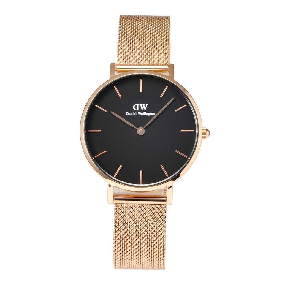a55fcc0539a8 Daniel Wellington Rose Gold and Black Dw00100161 Classic Petite Melrose  Ladies Watch