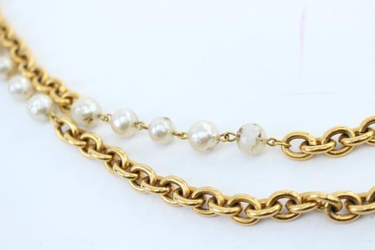 Chanel Gold Double Pearl CC 2way Necklace 223836 Image 10