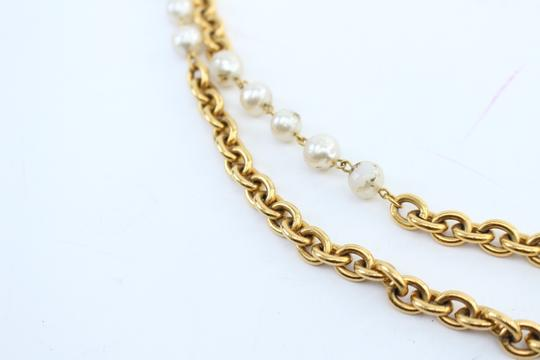 Chanel Gold Double Pearl CC 2way Necklace 223836 Image 11