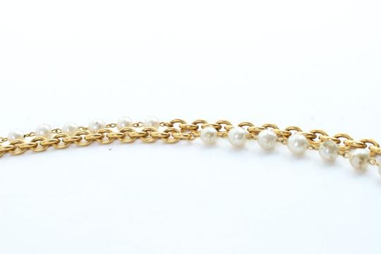 Chanel Gold Double Pearl CC 2way Necklace 223836 Image 3