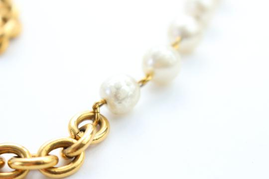 Chanel Gold Double Pearl CC 2way Necklace 223836 Image 4
