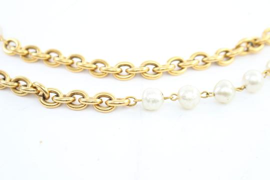 Chanel Gold Double Pearl CC 2way Necklace 223836 Image 6