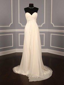 Ines Di Santo Silk Chiffon Wedding Dress