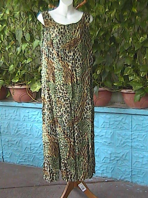 Printed Maxi Dress by R & K Sleeveless Summer