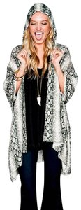 Show Me Your Mumu Mellow Jacket Long Draped Sweater Hooded Cardigan New Cardi Hoodie Snake Hippie Bohemian Cape