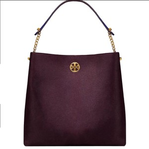 Tory Burch Satchel in Purple / gray/ Navy