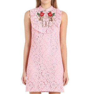 Gucci 2017 Embroidered Rose Dress
