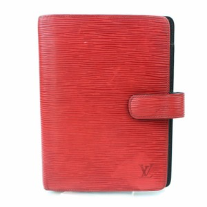 Louis Vuitton Agenda Agenda Mm Aenda Epi Red Clutch