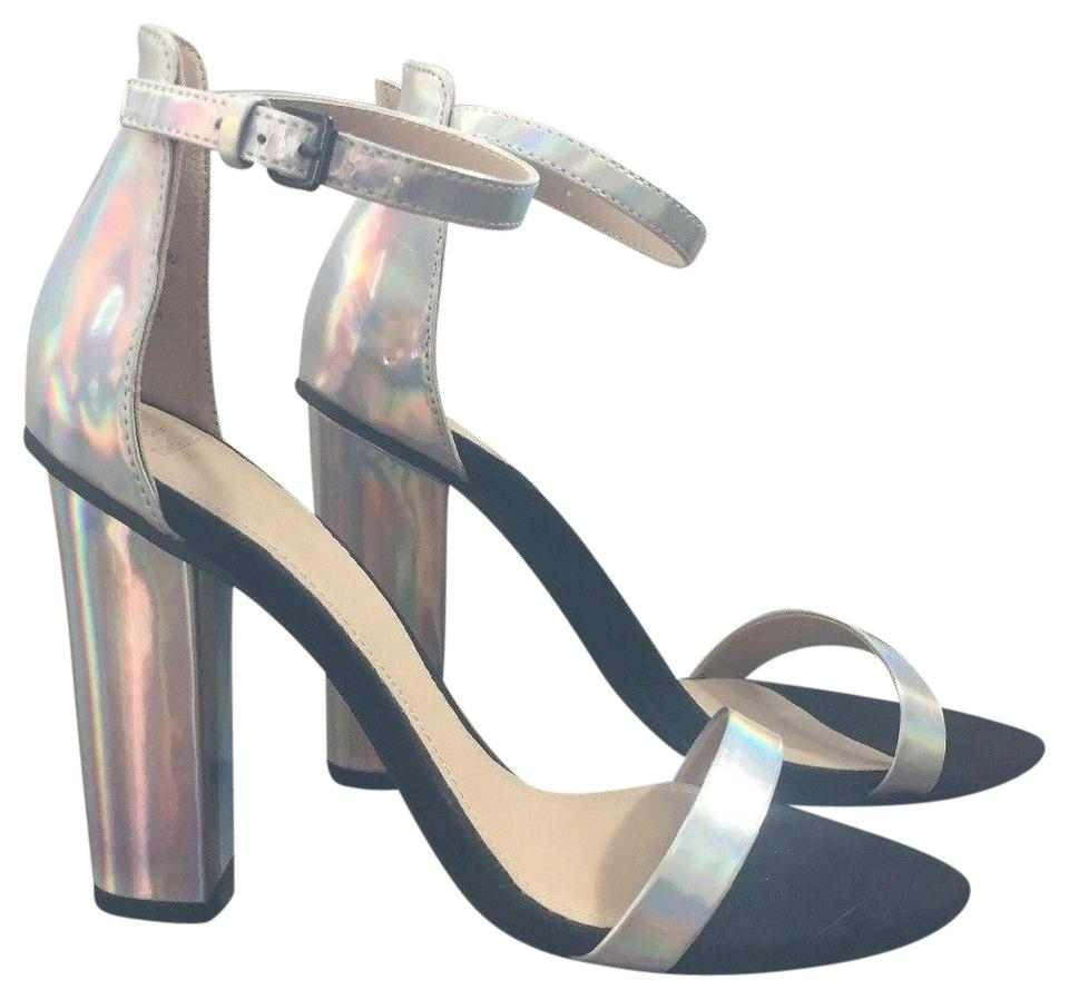 0e1f3aef1ca Zara Iridescent Block Heel Sandals Size EU 38 (Approx. US 8) Regular ...