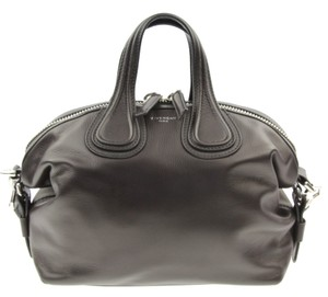 Givenchy Leather Silver Hardware Satchel in Black