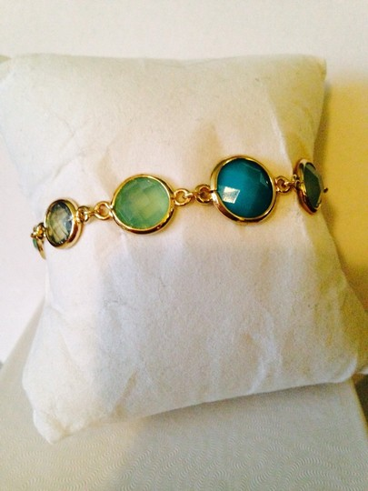 Anne Klein Anne Klein NWOT Faceted Shades Of Blue In Gold-Tone Bracelet Only! Matching Pieces Sold Seperately. Image 1