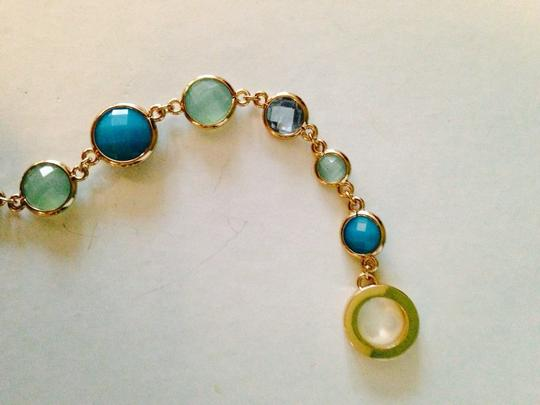 Anne Klein Anne Klein NWOT Faceted Shades Of Blue In Gold-Tone Bracelet Only! Matching Pieces Sold Seperately. Image 3