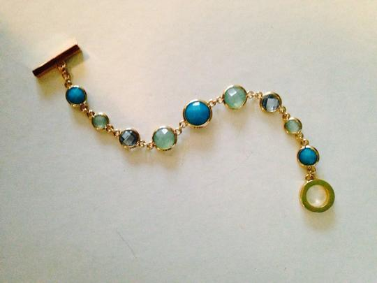 Anne Klein Anne Klein NWOT Faceted Shades Of Blue In Gold-Tone Bracelet Only! Matching Pieces Sold Seperately. Image 4