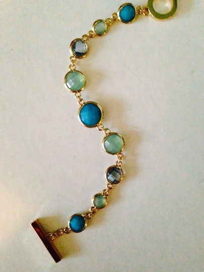 Anne Klein Anne Klein NWOT Faceted Shades Of Blue In Gold-Tone Bracelet Only! Matching Pieces Sold Seperately. Image 5