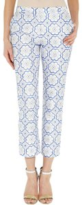 Diane von Furstenberg Embroidered Leg Straight Pants White