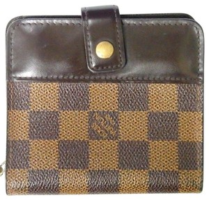 Louis Vuitton Louis Vuitton Wallet Compact Zippy Damier Ebene Coin Purse
