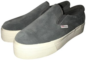 Superga Grey Platforms