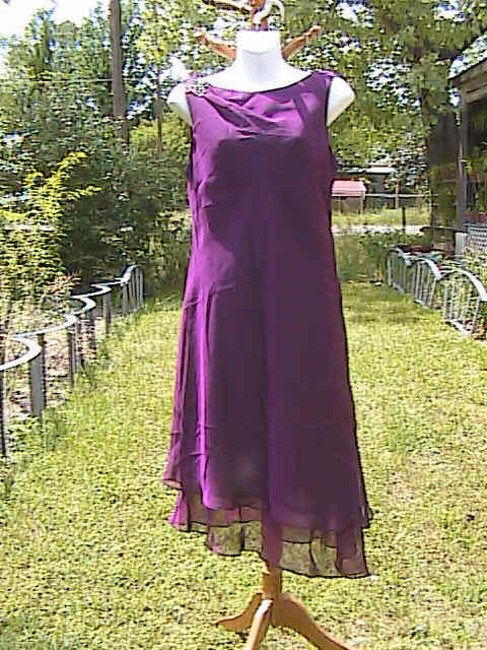 Purple Maxi Dress by Donna Ricco Chiffon
